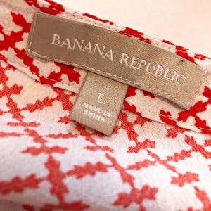 Banana Republic Tops - BANANA REPUBLIC Orange Pattern Tunic Tank Large